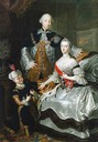 1756 Grand Duke Peter Fedorovich, Grand Duchess Catherine Alexeyevna and a page by Anna Rosina de Gasc (National Museum - Stockholm, Sweden)