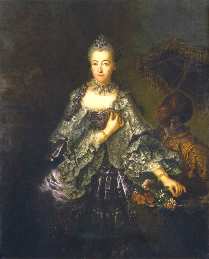 1756 Margravine Elisabeth Louise of Brandenburg-Schwedt by Anna Rosina von Lisiewska (Stiftung Preußische Schlösser und Gärten - Potsdam, Brandenburg, Germany) the lost gallery increased exposure