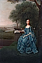 1756 Anne Streatfeild, née Sidney, natural daughter of the 7th Earl of Leicester and wife of Henry Streatfeild by Arthur Devis (auctioned by Bonham's)