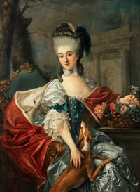 """1757"" Izabela Lubomirska, the Blue Marquise by Marcello Bacciarelli (Museum Palace at Wilanow - Warszawa, Poland) From Warszawa.wikia.com:wiki:"