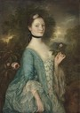 1757 Sarah, Lady Innes by Thomas Gainsborough (Frick Collection - New York City, New York USA