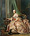 1757 Anastasia Ivanovna, Countess of Hesse-Homburg, Princess Trubetskaya by Alexander Roslin (National Gallery of Victoria, Melbourne Australia)