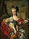1757 Izabela Lubomirska, the Blue Marquise by Marcello Bacciarelli (Museum Palace at Wilanow, Warszawa Poland)