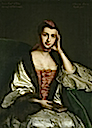 1759 Frances Hanbury Williams (1735-1759), Countess of Essex, 1st wife of William Anne Capel, 4th Earl of Essex by Sir Joshua Reynolds and studio (Watford Museum - Watford, Herts UK)