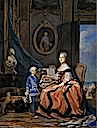 1760-1761 Portrait of Marie-Josephe de Saxe, Dauphine of France and her son Louis Joseph Xavier de France, 1751-61 Duke of Burgundy by Maurice-Quentin de la Tour (location unknown to gogm)