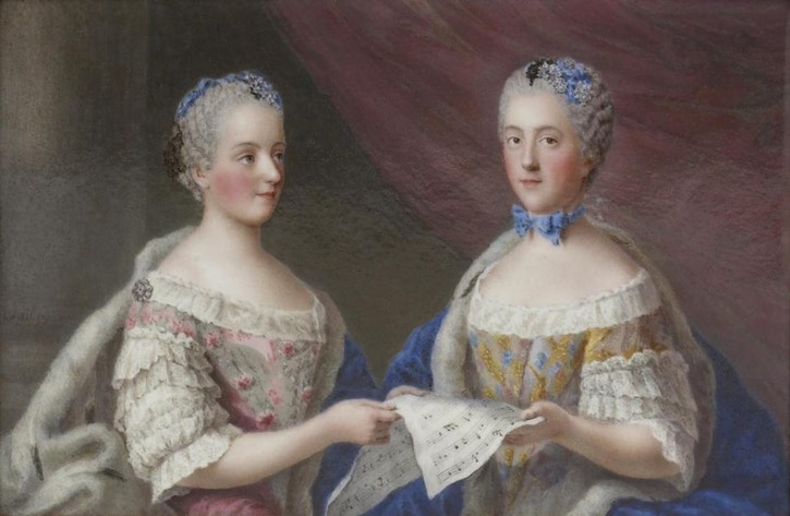1761 and 1762 (between) Victoire and Sophie de France by J. J. Dailly and Barriere (both jewelers - this decorates one panel of a snuff box) (Walters Art Museum - Baltimore, Maryland, USA) Wm despot