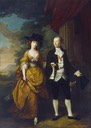1761 The first Lord and Lady Scarsdale walking in the grounds of Kedleston Hall by Nathaniel Hone (Kedleston Hall -Derbyshire UK)