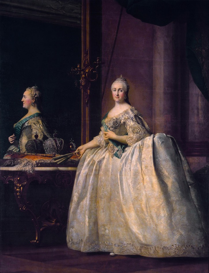 Catherine II in front of a Mirror