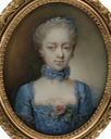 1763 Sophie Charlotte by Ernst Heinrich Abel (Tansey Miniatures Foundation collection, Bomann-Museum - Celle, Niedersachsen, Germany) From tansey-miniatures.com:sammlung