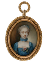 1763 Sophie Charlotte, Queen of Great Britain and Ireland, Electress and Queen of Hanover by Ernst Heinrich Abel (Bomann Museum, Tansey Collection of Miniatures - Celle, Niedersachsen Germany)