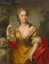 1763:1764 Countess Anna Alexandrovna Chernyshova by Stefano Torelli (State Hermitage Museum - St. Petersburg, Russia)