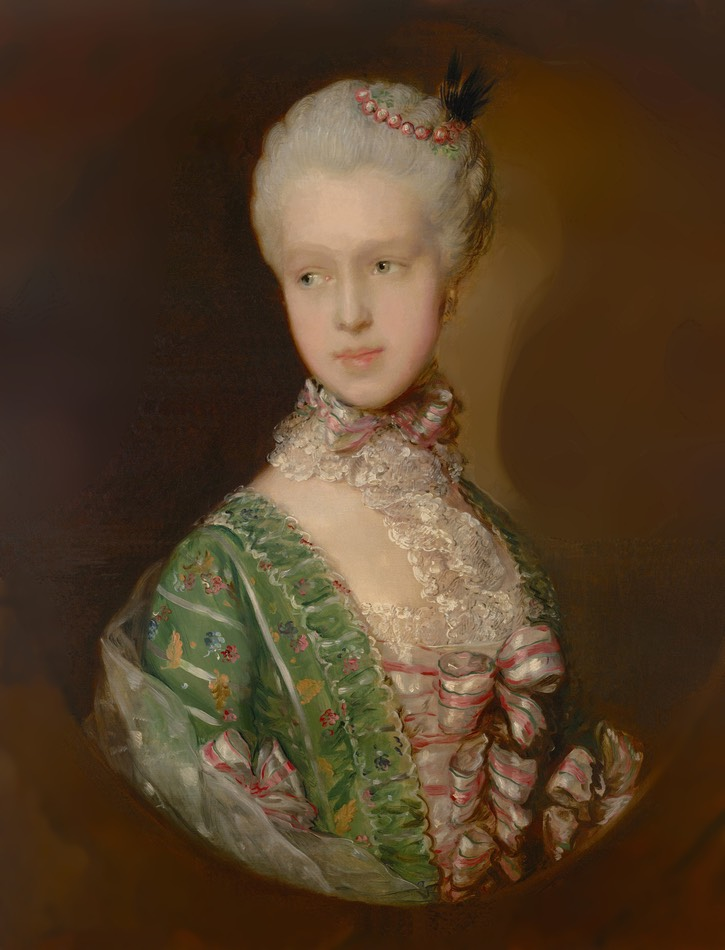 1764-1765 Elizabeth Wrottesley, later Duchess of Grafton by Thomas Gainsborough (National Gallery of Victoria - Melbourne, Victoria, Australia) Google Art Project via Wikimedia