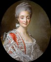 1765 Mme. Jacques-Benoit Loys, nee Marie Combe by François Hubert Drouais (Musée du Louvre - Paris, France) From liveinternet.ru:users:marylai:post412843212: despot background and fix cracks in upper quarter