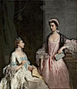 1765 Mrs. Laura Keppel and her Sister Charlotte, Lady Huntingtower (Laura and Charlotte Walpole) by Allan Ramsay (Museum of Fine Arts, - Boston, Massachusetts USA)