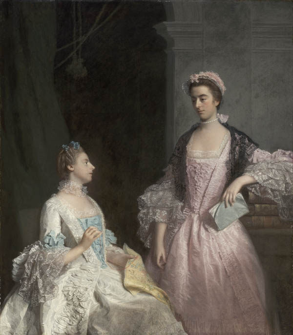1765 Mrs. Laura Keppel and her Sister Charlotte, Lady Huntingtower (Laura and Charlotte Walpole) by Allan Ramsay (Museum of Fine Arts, - Boston, Massachusetts USA) From lwlimages.library.yale.edu:strawberryhill