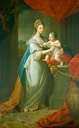 1767 Augusta Friederike Hannover by Angelica Kauffman (Royal Collection)