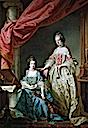 1767 Princess Louisa and Princess Caroline by Francis Cotes (Royal Collection)