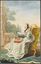1769 Princesse de Bouillon by Louis Carrogis (Musée Condé - Chantilly France)