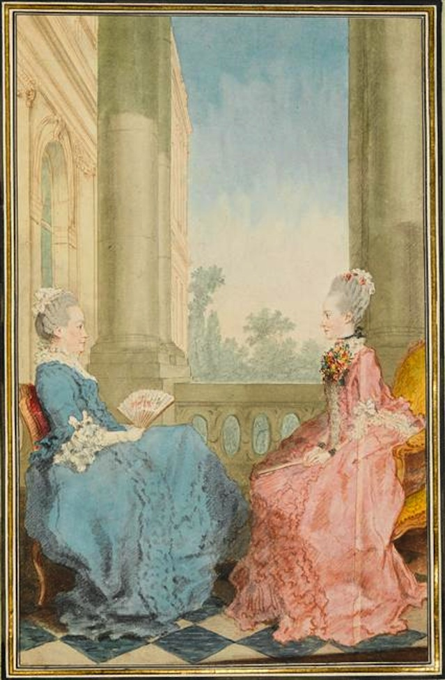 1769 Mesdames les princesses Hesse-Darmstadt, mère et fille by Louis Carrogis (Musée Condé - Chantilly France) Photo - René-Gabriel Ojéda