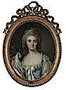 1770ca. Comtesse de Provence half-length, in a turquoise dress with white lace trim and ribbon by Joseph-Siffred Duplessis (location unknown to gogm)