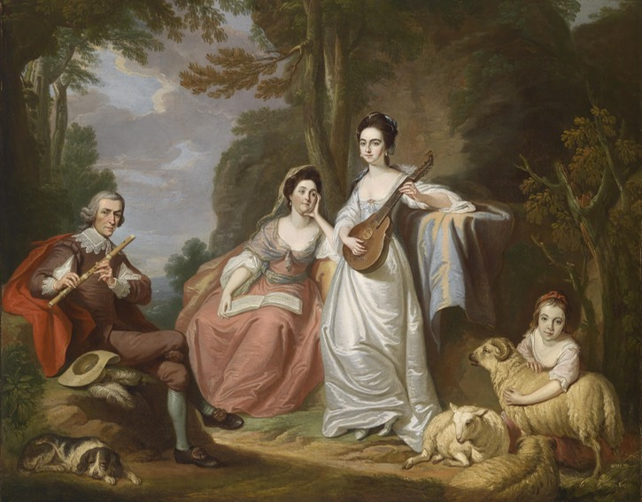 1770s Burdett family, possibly Francis Burdett (1743-1794) and his family by Robert Edge Pine (auctioned by Dorotheum) Eleanor Jones #16690 Wm