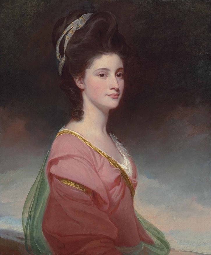 1770s Elizabeth Ramus, Baroness de Nougal, by George Romney (auctioned by Christie's) From arthive.com/georgeromney/works/552609~Portrait_of_Elizabeth_Ramus