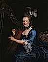 1761 (first done) 1770s (modified) Geneviève Rinteau de Verrières by François Hubert Drouais (location unknown to gogm)