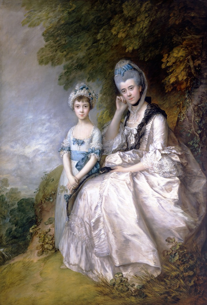 1771 Hester, Countess of Sussex, and Her Daughter, Lady Barbara Yelverton by Thomas Gainsborough (Toledo Museum of Art - Toledo, Ohio, USA) Wm size fixed 100 cm at 28.35 pixels/cm