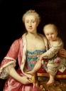 1772 or 1773 Maria Carolina of Austria and her daughter María Teresa by Giuseppe Bonito (Museum Cerralbo - Madrid, Spain)