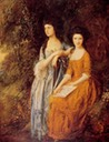 1772 The Linley Sisters by Thomas Gainsborough (Dulwich Picture Gallery - London UK)
