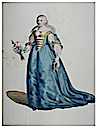 1772 print Marie de Medici from Thomas Jefferys, A Collection of the Dresses of Different Nations