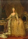 1773-1775 Queen Sophia Magdalena of Denmark by Lorentz Pasch the Younger (Hermitage)