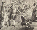 1774 Le Bal Paré by Antoine Jean Duclos (French, Paris, 1742–1795) Etching after Augustin de Saint-Aubin (Metropolitan Museum of Art - New York City, New York USA) left group