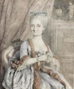 1774(?) Louise-Jeanne Caulet (Collet) d'Hauteville du Pont by Peter Adolf Hall (auctioned)