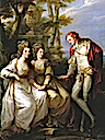 1774 Lady Georgiana, Lady Henrietta Frances and George John Spencer, Viscount Althorp by Angelica Kauffman (Althorp - Northamptonshire UK)
