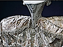 1774 wedding dress of Hedwig Elizabeth Charlotte Holstein-Gottorp closeup
