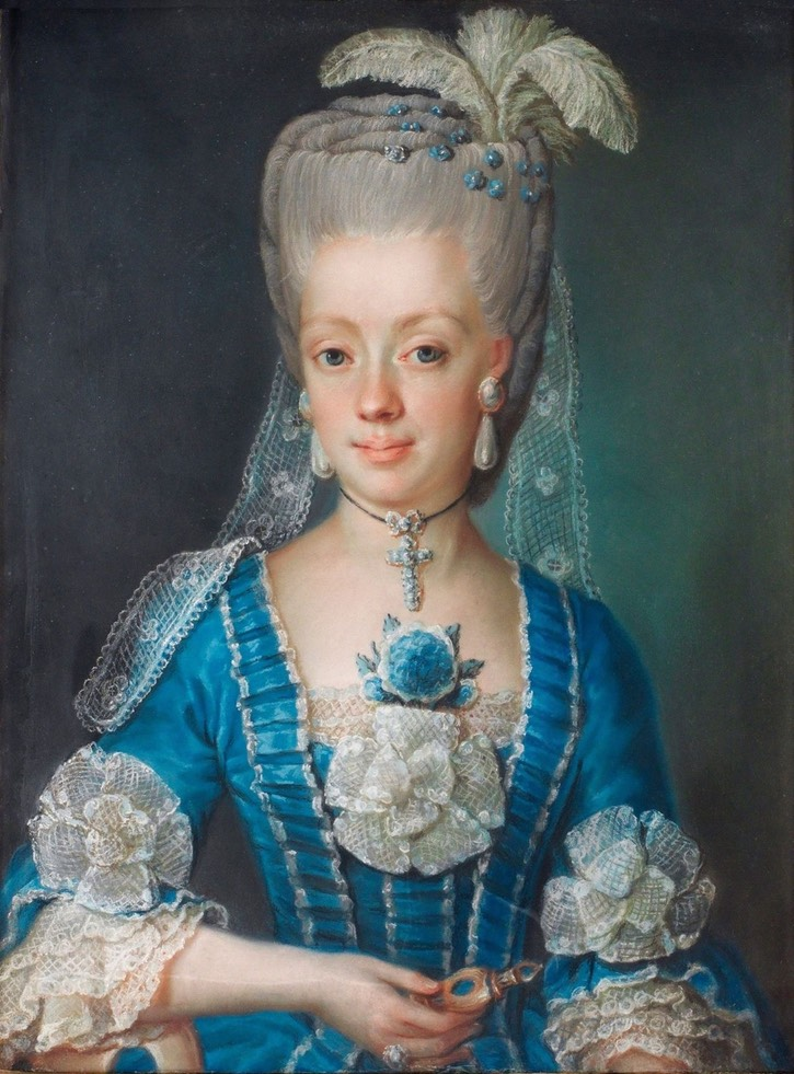 1775 Anna Maria Åbrandt by Gustaf Lundberg (location ?) From pinterest.com:banuylmaz1984:she-wore-blue: fixed upper edge
