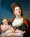 1776 (estimate based on age of child) Mary, Duchess of Gloucester with her Son William by Pompeo Batoni (private collection)