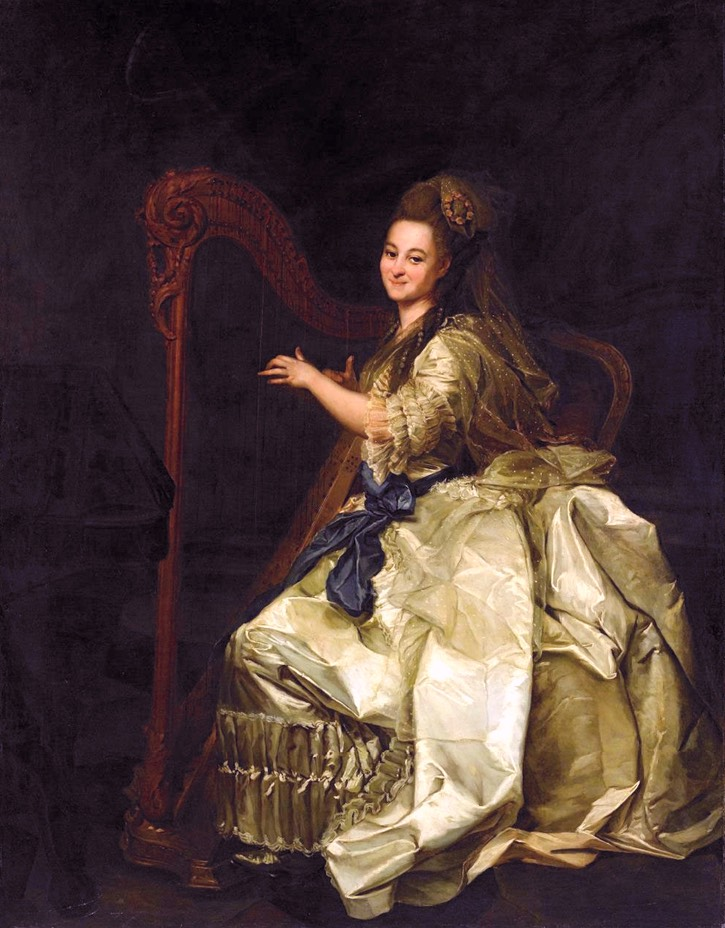 1776 Glafira Ivanovna Alymova by Dmitry Grigoryevich Levitsky (State Russian Museum - St. Petersburg, Russia) Wm fixed left edge shadows exp tint