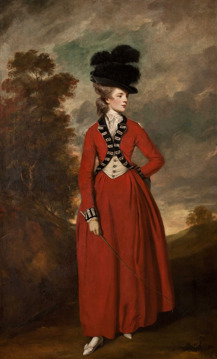 1776 Lady Worsley by Sir Joshua Reynolds (Harewood House - Yorkshire, UK) Wm trimmed