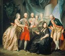 1776 Old Maria Theresia old and family by Heinrich Friedrich Fuger (location unknown to gogm) Albert of Sachsen-Teschen and Marie Christine show the images brought back from Italy, and beyond, Maximilian, Maria Anna, Mary Elizabeth, Joseph II)