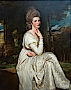 1776-1778 Lady Elizabeth Hamilton by George Romney (Metropolitan Museum - New York City, New York USA)