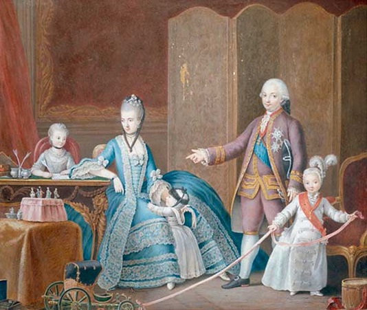 1776 Maria Amalia, Ferdinand of Parma, family by Giuseppe Bettoli (location unknown to gogm)