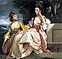 1777-1778 Hester and Queeney Thrale by Sir Joshua Reynolds (Beaverbrook Art Gallery - Fredericton, New Brunswick Canada)
