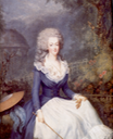 1778 Marie-Antoinette wearing riding dress by Antoine Vestier (private collection)