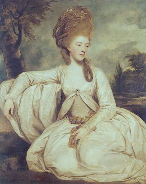 1778 Mary Wadsworth, Duchess of Kent by Sir Joshua Reynolds (location unknown to gogm) From jeannedepompadour.blogspot.com:2012:03:turquerie-in-portrait-paintings reduced temp shifted toward green