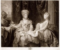 1778 Queen Charlotte with Charlotte the Princess Royal by Benjamin West