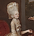 1779 (or after) Catherine Ponsonby's head, sleeve, and bodice