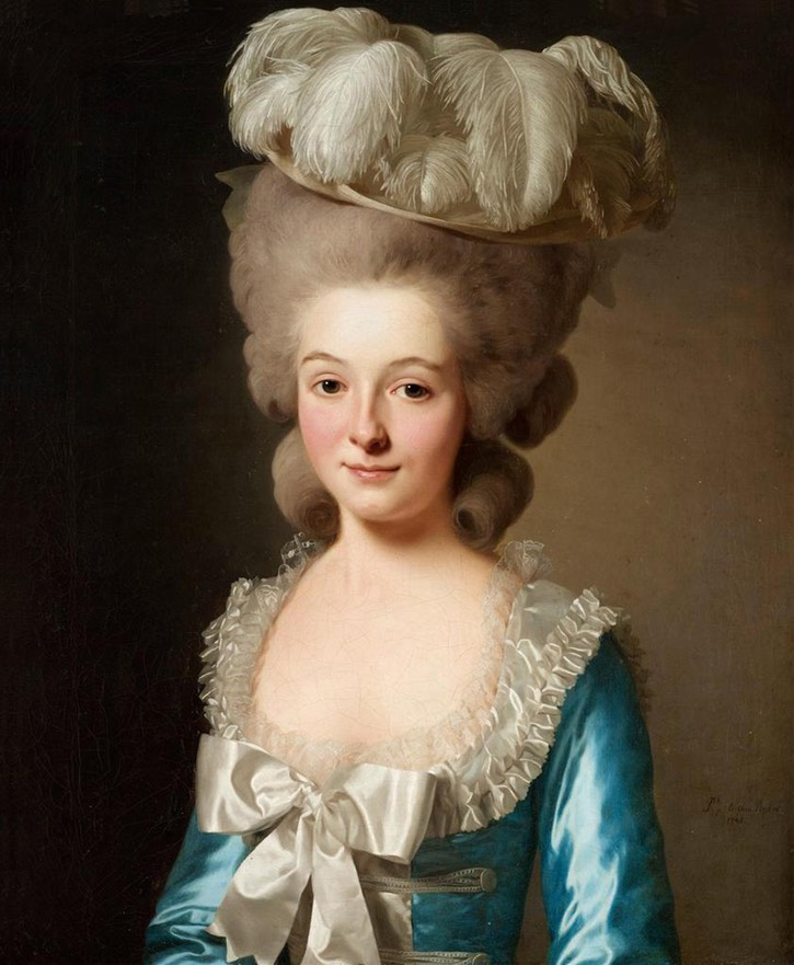 1780 French lady (called Mademoiselle de Bionville) by Alexander Roslin (auctioned by Bukowskis) From a-l-ancien-regime.tumblr.com:post:14455324386:alexander-roslin-portrait-of-a-french-lady-called