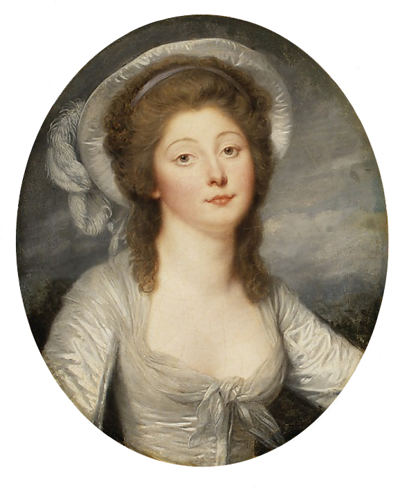 1780s (possibly early in decade) Young Woman, Called Mademoiselle Montredon by Jean Baptiste Greuze (Metropolitan Museum - New York City, New York USA)